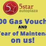 Dan Grosvenor- 5 Star Auto Plaza:$300 Gas Voucher When You Buy A Car With 5 Star Auto Plaza