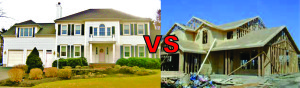 existing home vs construction