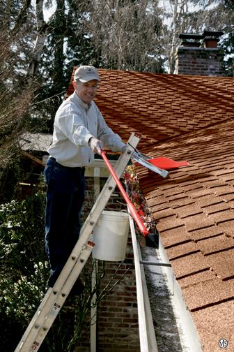 Maintenance leaves-in-gutter